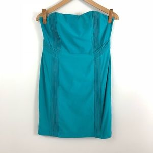 C. Luce Teal Strapless Dress